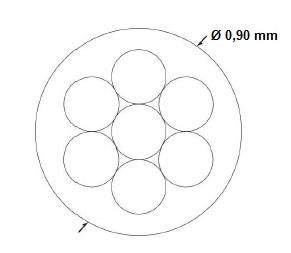 Трос пломбировочный в полимере 100м - Фото 2