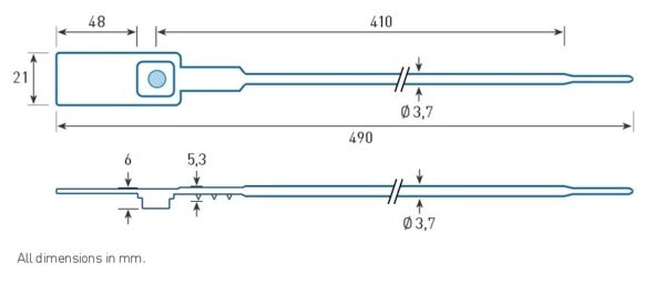 Пломба-затяжка усиленная GP-413 - Фото 3